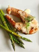 Salmon Steak with Bernaise