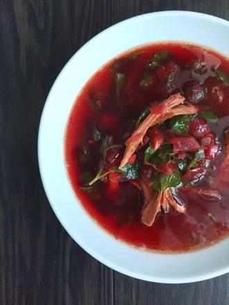 Turkey Beet Soup